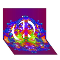 Abstract 6 Peace Sign 3d Greeting Card (7x5)  by icarusismartdesigns