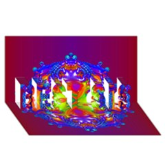 Abstract 6 Best Sis 3d Greeting Card (8x4)  by icarusismartdesigns