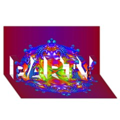 Abstract 6 Party 3d Greeting Card (8x4)  by icarusismartdesigns