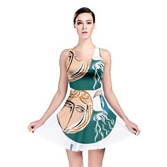 Aquarius Star Sign Reversible Skater Dresses by theimagezone