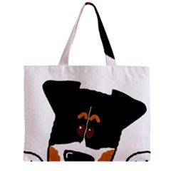 Peeping Bernese Mountain Dog Zipper Tiny Tote Bags by TailWags