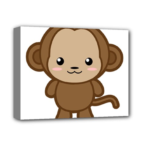 Kawaii Monkey Deluxe Canvas 14  x 11  by KawaiiKawaii