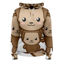 Kawaii Monkey Women s Pullover Hoodies by KawaiiKawaii