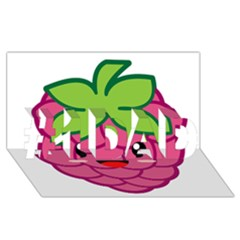 Raspberry #1 Dad 3d Greeting Card (8x4)