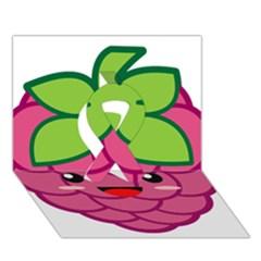 Raspberry Ribbon 3d Greeting Card (7x5)  by KawaiiKawaii