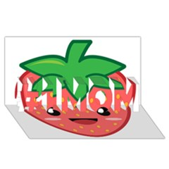Kawaii Strawberry #1 Mom 3d Greeting Cards (8x4)