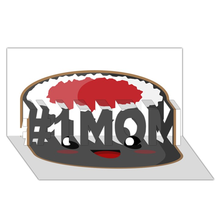 Kawaii Sushi #1 MOM 3D Greeting Cards (8x4)