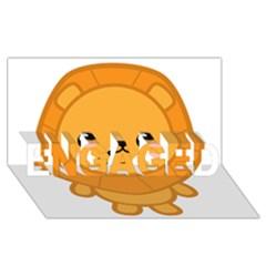 Kawaii Lion Engaged 3d Greeting Card (8x4)  by KawaiiKawaii