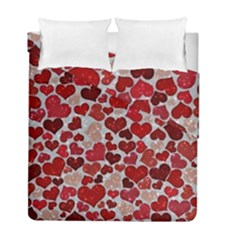 Sparkling Hearts, Red Duvet Cover (Twin Size) by MoreColorsinLife
