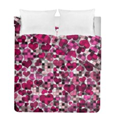 Hearts And Checks, Pink Duvet Cover (twin Size) by MoreColorsinLife