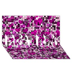 Hearts And Checks, Purple Best Bro 3d Greeting Card (8x4)  by MoreColorsinLife