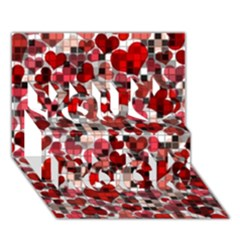 Hearts And Checks, Red You Rock 3d Greeting Card (7x5)
