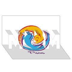 Pisces Star Sign Mom 3d Greeting Card (8x4)