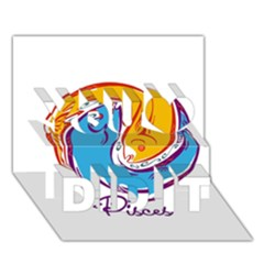 Pisces Star Sign You Did It 3d Greeting Card (7x5) by theimagezone