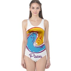 Pisces Star Sign Women s One Piece Swimsuits by theimagezone