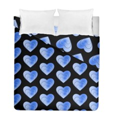 Heart Pattern Blue Duvet Cover (Twin Size) by MoreColorsinLife