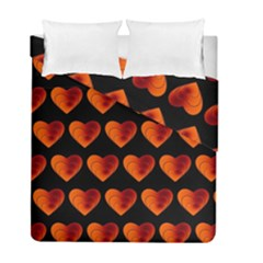 Heart Pattern Orange Duvet Cover (twin Size) by MoreColorsinLife