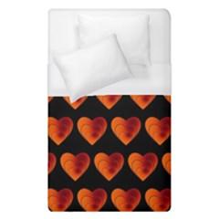 Heart Pattern Orange Duvet Cover Single Side (Single Size) by MoreColorsinLife
