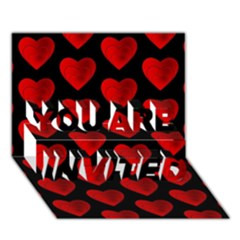 Heart Pattern Red You Are Invited 3d Greeting Card (7x5)  by MoreColorsinLife