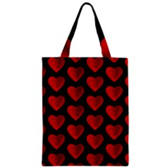Heart Pattern Red Zipper Classic Tote Bags by MoreColorsinLife