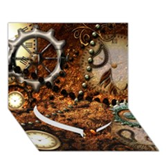 Steampunk In Noble Design Heart Bottom 3d Greeting Card (7x5)