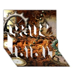 Steampunk In Noble Design You Did It 3d Greeting Card (7x5)