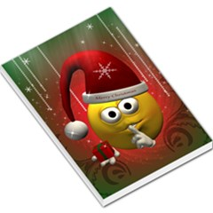 Funny Christmas Smiley Large Memo Pads by FantasyWorld7
