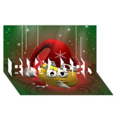 Funny Christmas Smiley Engaged 3d Greeting Card (8x4)