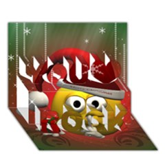 Funny Christmas Smiley You Rock 3d Greeting Card (7x5)  by FantasyWorld7