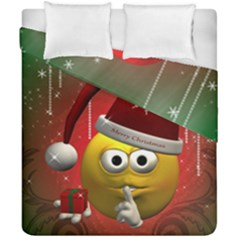 Funny Christmas Smiley Duvet Cover (Double Size)