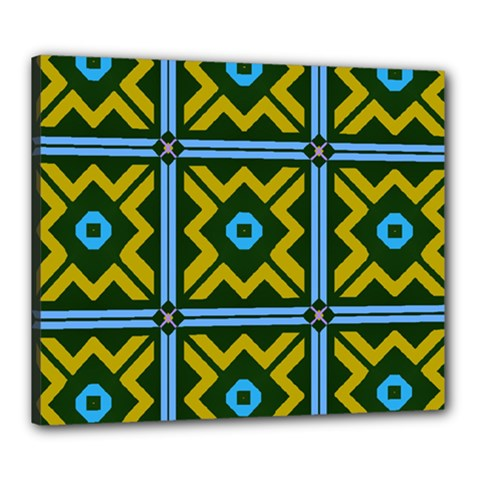 Rhombus In Squares Pattern Canvas 24  X 20  (stretched) by LalyLauraFLM