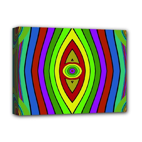 Colorful Symmetric Shapes Deluxe Canvas 16  X 12  (stretched)  by LalyLauraFLM