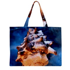 Sea Shell Spiral Zipper Tiny Tote Bags