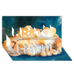 Sea Shell Spiral 2 Best Friends 3d Greeting Card (8x4)  by timelessartoncanvas