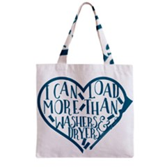I Can Load More Than Washers And Dryers Grocery Tote Bags by CraftyLittleNodes