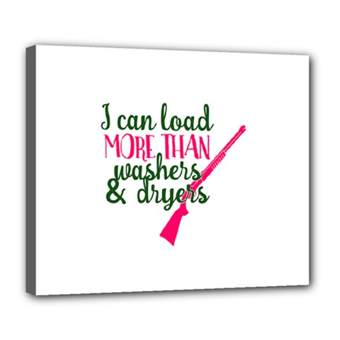 I Can Load More Than Washers And Dryers Deluxe Canvas 24  X 20   by CraftyLittleNodes
