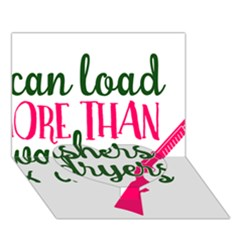 I Can Load More Than Washers And Dryers Heart Bottom 3d Greeting Card (7x5)