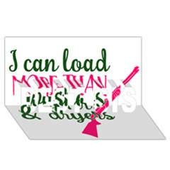 I Can Load More Than Washers And Dryers Best Sis 3d Greeting Card (8x4)