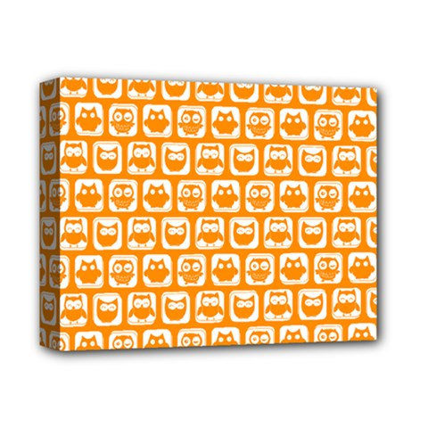 Yellow And White Owl Pattern Deluxe Canvas 14  X 11  by creativemom