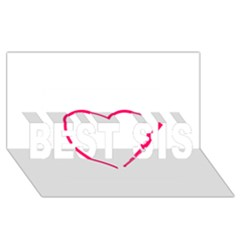 Customizable Shotgun Heart Best Sis 3d Greeting Card (8x4)  by CraftyLittleNodes