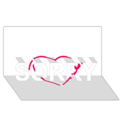 Customizable Shotgun Heart Sorry 3d Greeting Card (8x4)  by CraftyLittleNodes
