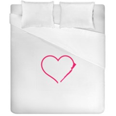 Customizable Shotgun Heart Duvet Cover (double Size) by CraftyLittleNodes
