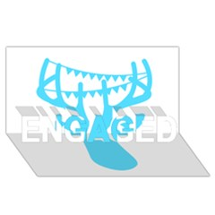 Party Deer With Bunting Engaged 3d Greeting Card (8x4)  by CraftyLittleNodes