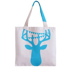 Party Deer With Bunting Grocery Tote Bags by CraftyLittleNodes