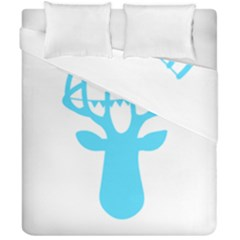 Party Deer With Bunting Duvet Cover (double Size) by CraftyLittleNodes