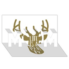 Life Is A Party Buck Deer Mom 3d Greeting Card (8x4)
