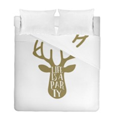 Life Is A Party Buck Deer Duvet Cover (Twin Size) by CraftyLittleNodes