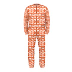 Coral And White Owl Pattern Onepiece Jumpsuit (kids) by creativemom