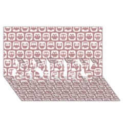 Light Pink And White Owl Pattern Sorry 3d Greeting Card (8x4)
