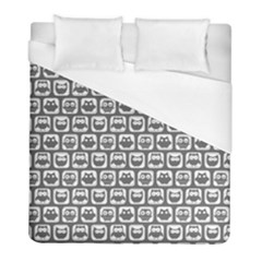 Gray And White Owl Pattern Duvet Cover Single Side (Twin Size) by creativemom